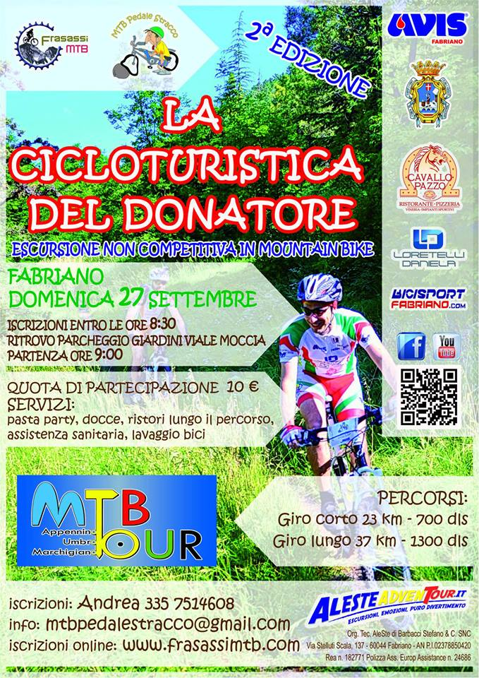 cicloturistica del donatore